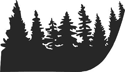 Christmas Jeep Silhouette.Jeep Wrangler Pine Tree Hood Vinyl Stickers Full Set Decal Tj Pick Color Black