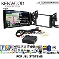 Volunteer Audio Kenwood DNX874S Double Din Radio Install Kit with GPS Navigation Apple CarPlay Android Auto Fits 2007-2014 Toyota FJ Cruiser with Amplified System