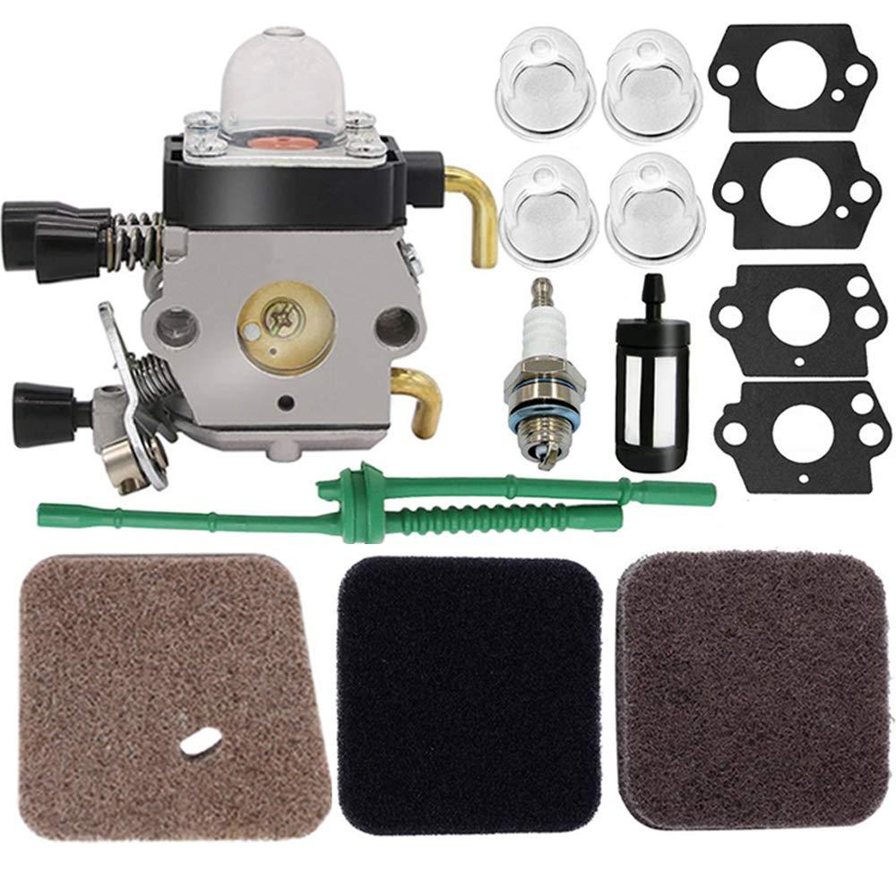 C1Q-S97 Carburetor - for STIHL FS38 FS45 FS46 FS55 KM55 HL45 FS45L FS45C FS46C FS55C FS55R FS55RC FS85 FS80R FS85R FS85T FS85RX String Trimmer Weed Eater, FS55 Carburetor,FS45 Carburetor,c1q-s186 Carb by HOOAI