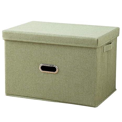 YFZYT Caja de Almacenamiento Plegable de 14 litros con Tapa y Asas Tela Decorativa para Oficina