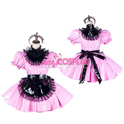 b58d889ff Image Unavailable. Image not available for. Color: Sissy maid dress lockable  ...