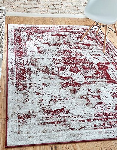 Unique Loom Sofia Collection Burgundy 9 x 12 Area Rug (9' x 12')