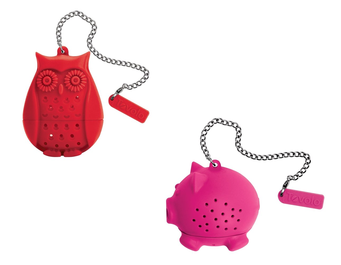Tovolo Silicone Tea Infuser - Owl and Pig, Set of 2