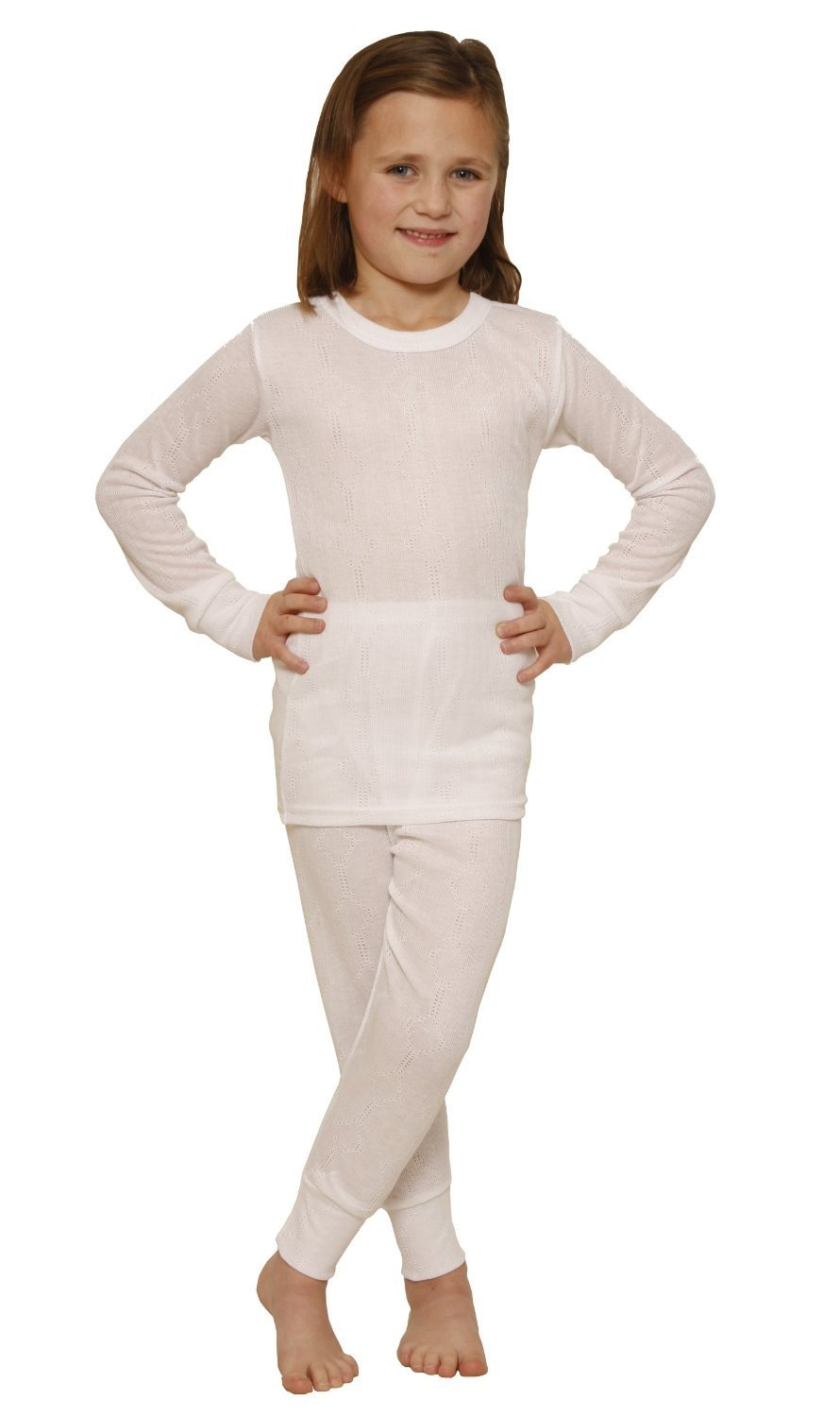 OCTAVE® Girls Thermal Underwear Set : Long Sleeved Vest & Long Pants