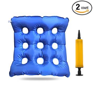 Inflatable Seat Cushions  17u0026quot; X 17u0026quot; ,Heat Sealed Construction For  Durability,