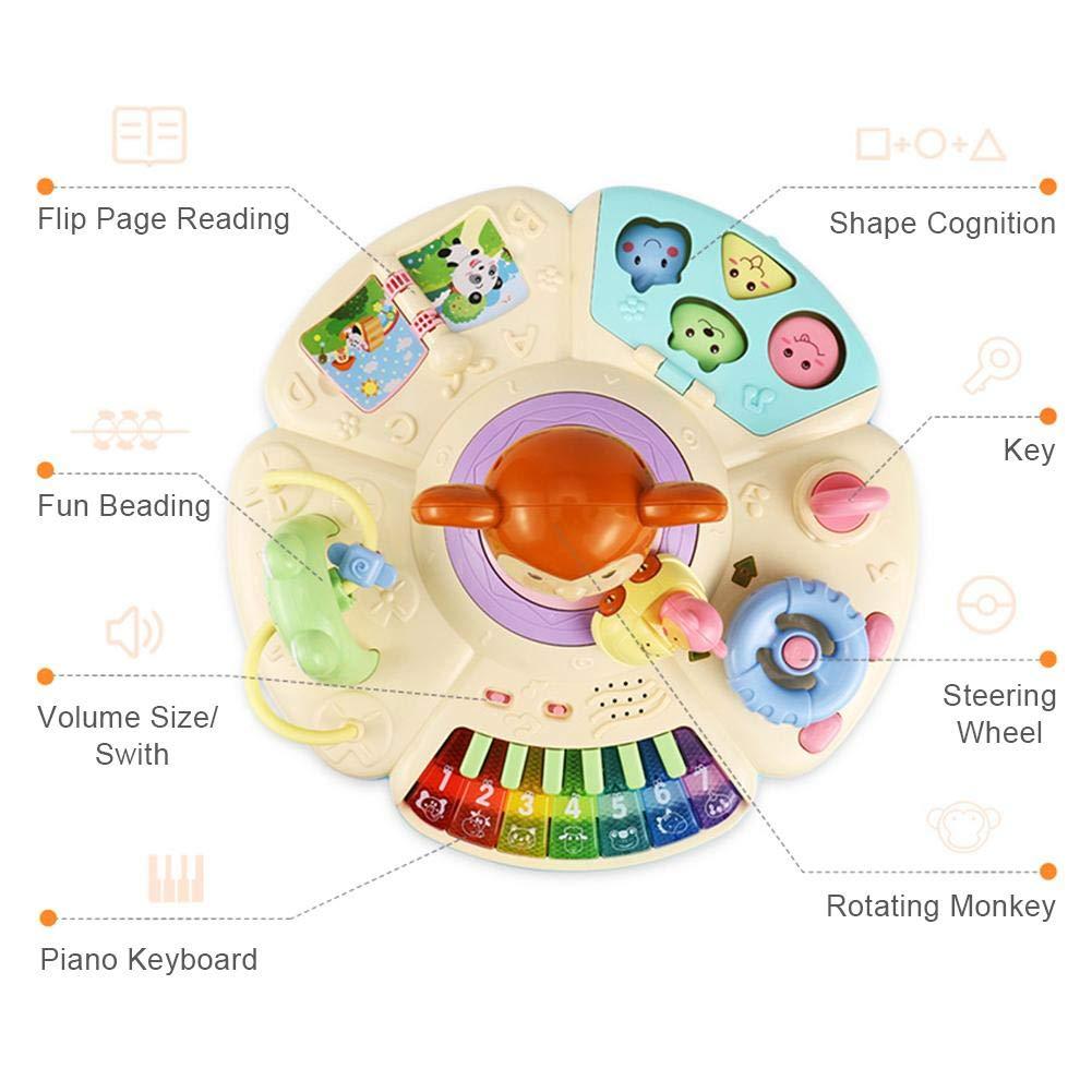 Spielzeug Musical Lerntisch Babyspielzeug 2 in 1 Fr/üherziehung Spieltisch Music Activity Center Tisch f/ür Kleinkinder Kleinkind Jungen M/ädchen ab 6 Monaten