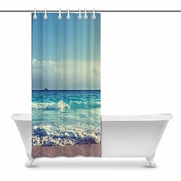 Amazon Com Interestprint Ocean Beach In Sunset Time Art Digital