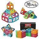 QUADPRO 76ピースマグネティック積み立てブロック ボーイズ&ガールズ用玩具 キッズ用マグネットタイルキットの商品画像