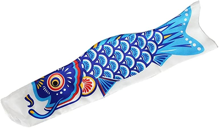 50cm Japanese Windsock Carp Flag Koi Nobori Sailfish Wind Streamer Rainbow