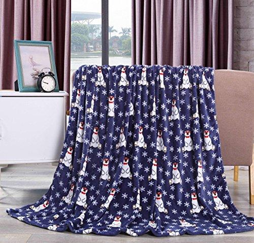 NobleHouse Velvet Touch Holiday Throw Fleece Blanket (50