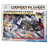 Toy Airplane Made of Metal and Plastic Set of 12