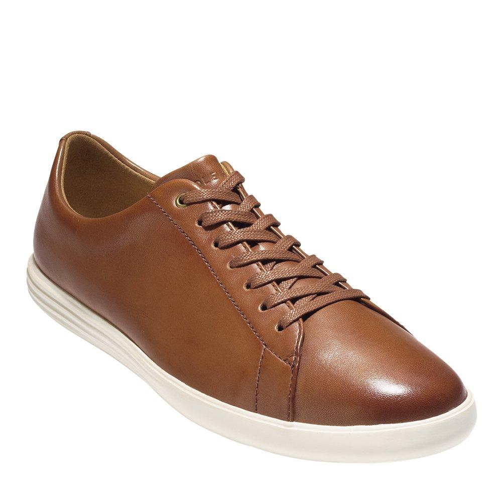 Cole Haan Men's Grand Crosscourt II Sneaker, Tan Leather Burnished, 9.5 Medium US