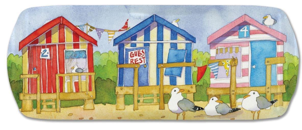 Diseño de casetas de playa - para paredes con el mar - bandeja de melamina de colores Emma Ball - 40 cm: Amazon.es: Hogar