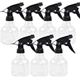Spray Bottles 7pcs 8oz Empty Plastic Spray Bottle with Adjustable Nozzle for Hair and Cleaning Solutions Includes Funnel…
