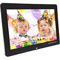 Andoer 14-inch HD LED Digital Picture Frame Wide Screen Digital Album High Resolution 1280 * 800 Electronic Photo Frame with Remote Control Black