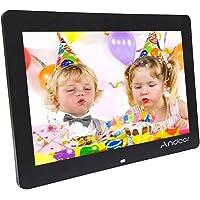 """Andoer® 8"""" HD TFT-LCD Cadre Photo Numérique Horloge Réveil MP3 MP4 et Films à Poser Remote"""