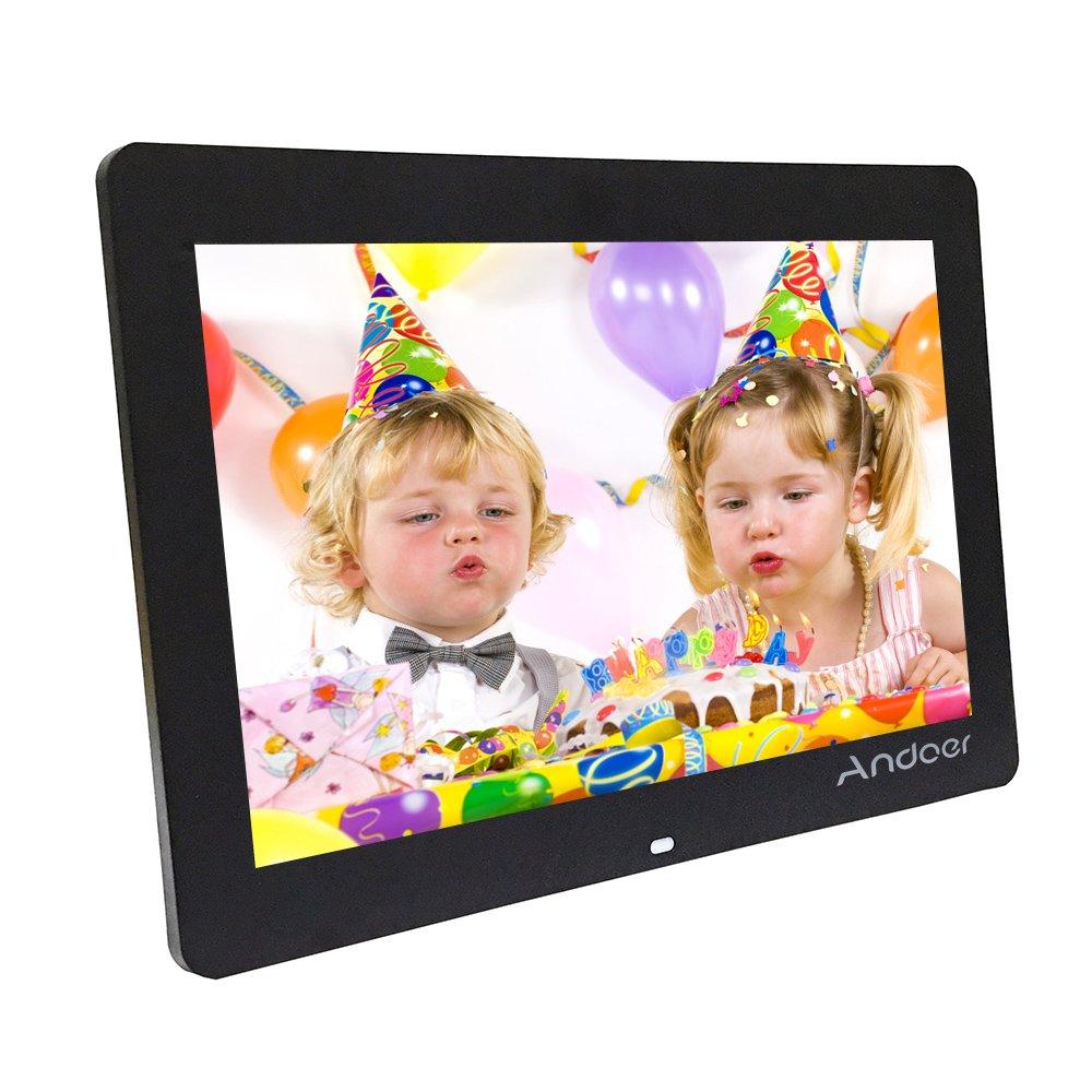 Andoer® cornice digitale Ultrasottile HD TFT-LCD , Orologio Sveglia, Lettore MP3 MP4