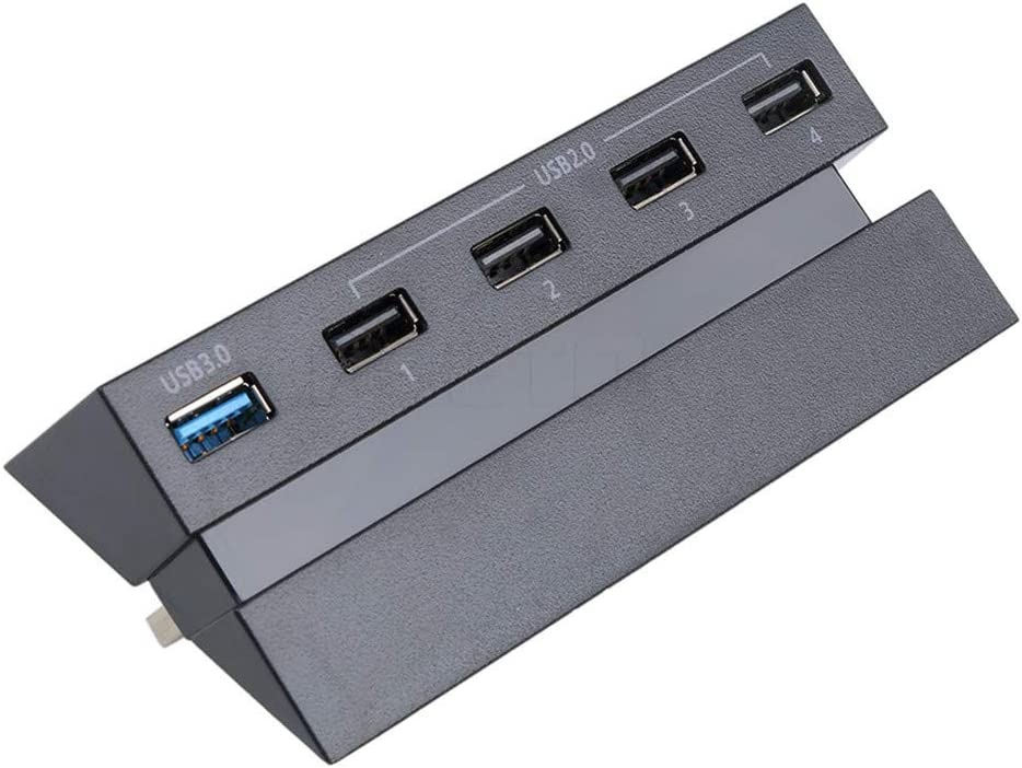 PS4 USB Hub 5 Ports USB 3.0 High Speed Adapter Controller Splitter Expansion for PlayStation 4 PS4 Console Not for PS4 Slim PS4 Pro