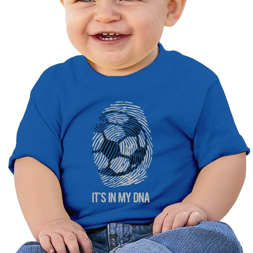 REBELN Football Its in My DNA Cotton Short Sleeve T Shirts for Baby Toddler Infant