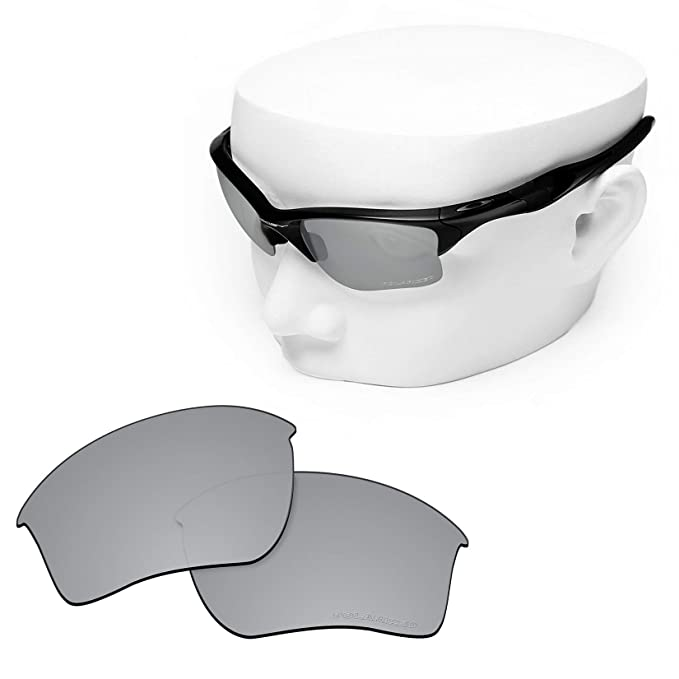 94e3b58eda8 Image Unavailable. Image not available for. Color  OOWLIT Replacement Lenses  Compatible with Oakley Half Jacket 2.0 XL Sunglass Titanium Non-polarized