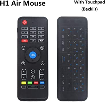 Calvas 2.4GHz Wireless Keyboard Touchpad Mouse Handheld Remote Control 3 Colors Backlight For Android TV BOX Smart TV PC Notebook New