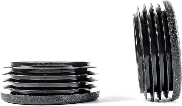 de pl/ástico negro y acanalados paquete de 4 Tapones de inserci/ón redondos