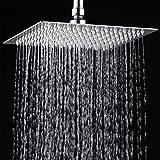 "12""Rainfall Shower Head , YAWALL Ultra-thin Stainless Steel & High Polish Chrome,Luxury Durable Rain Showerhead,Rain Style & Waterfall Effect - Enjoy a Invigorating Spa-like shower"