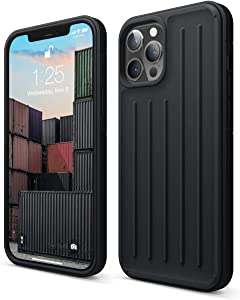 elago Protective Armor Case Compatible with Phone 12 Pro Max 6.7 Inch (Black) - Shock Absorbing Design, Durable TPU, Wireless Charging Supported