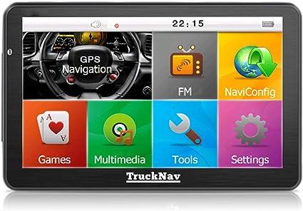 Juego de navegador GPS con Bluetooth, cámara y tarjeta SD de 8 GB, pantalla de 7