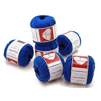 Charmkey Pappardelle T Shirt-Garn, 100% weicher Polyester-Stoff ...