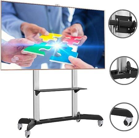 XUE Soporte para TV giratoria de Pantalla Doble Carro de TV móvil, para Pantallas Planas LED de Plasma de 32-70 Pulgadas Televisor Plano Pantalla giratoria 360 ° Giratorio: Amazon.es: Hogar