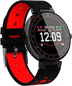Smart Watches kkcite Bluetooth Fitness Tracker Sports SmartWatch, Waterproof Touch Screen Watch with Blood Pressures Heart Rate Monitor Calories, Compatible with Android&iOS Phones for Kids Men Women