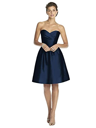 Alfred Sung Women's Strapless Cocktail Length