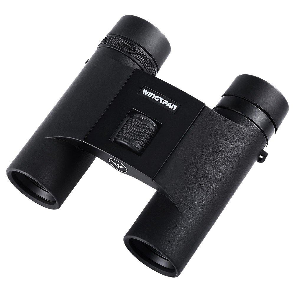 翼幅OpticsフェザーウルトラHD 8 x 25コンパクト折りたたみ双眼鏡for Bird Watching with Edガラス。超軽量。特別設計のBird Watching。ワイドビューのフィールド、フォーカス閉じます。防水。 B07333W6MP