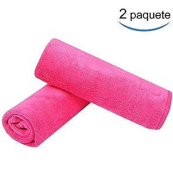 Nasjac Toallitas Desmaquillantes Microfibra (2 Piezas) - Lavable y Reutilizable, Respetuoso con la Piel, Toallitas Limpiadoras y Desmaquilladoras, ...