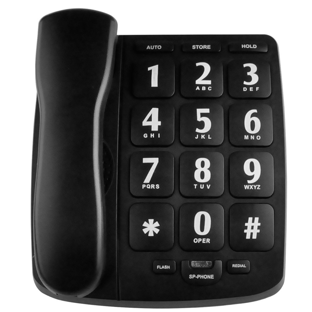 HePesTer P-02 Large Button Corded Phone for Senior