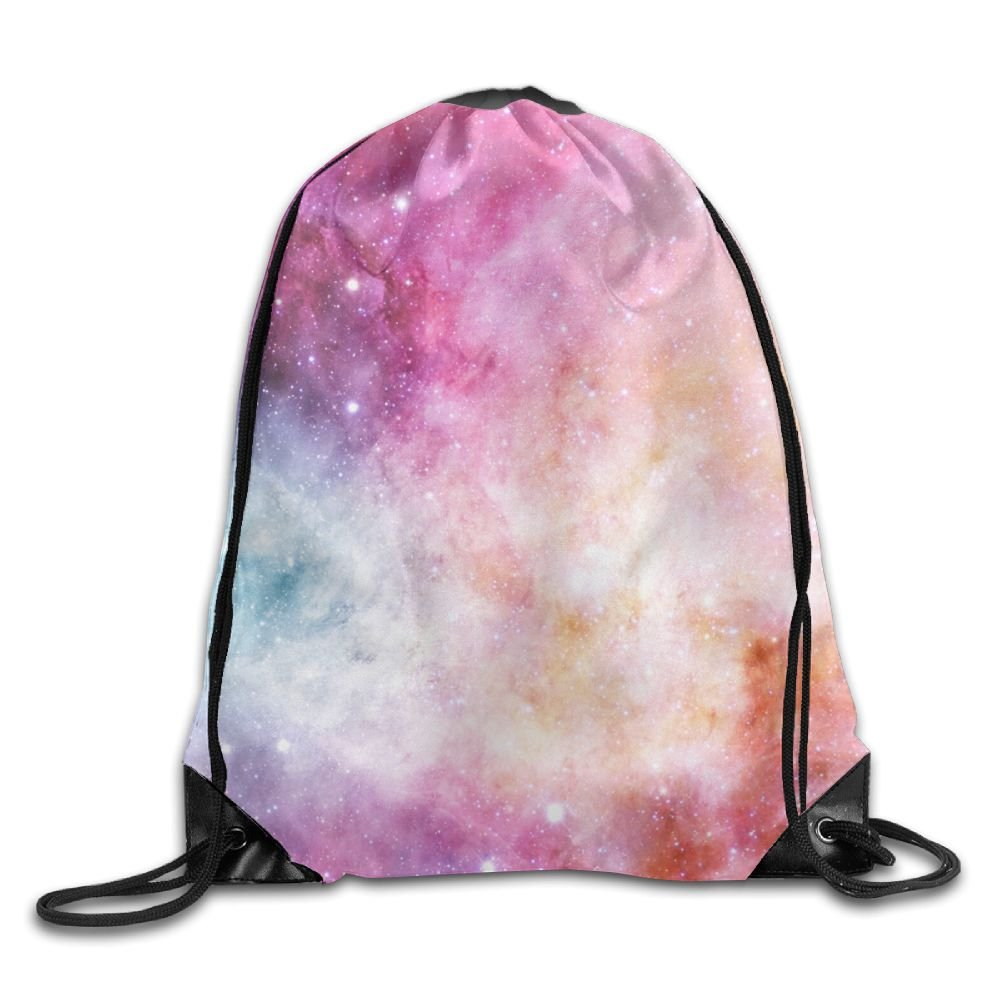 Red Starry Sky Drawstring Backpack Rucksack Shoulder Bags Training Gym Sack For Man And Women