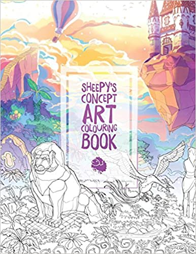Sheepys Concept Art Colouring Book
