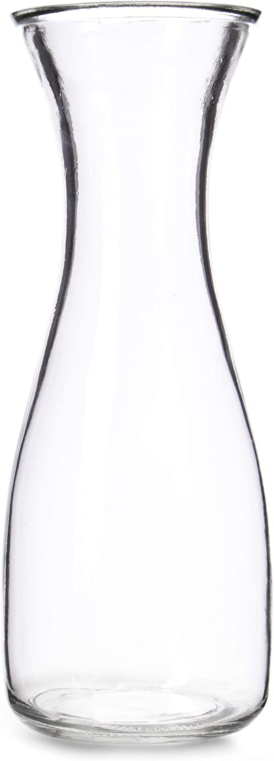 34 oz (1 Liter) Glass Carafe Beverage Bottles - Water Pitchers, Wine Decanters, Mixed Drinks, Mimosas, Centerpieces, Arts & Crafts - Restaurant, Catering, Party, Home Kitchen Supplies