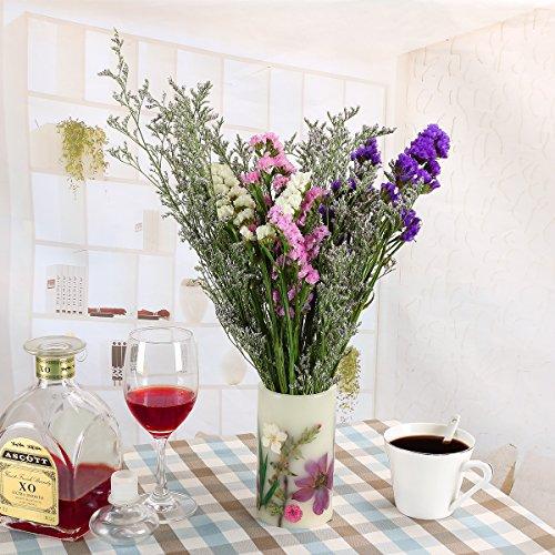 LOHOTEK Scented Candles White Tea Candle Soy Wax, Botanical Pillar Candles by LOHOTEK (Image #2)