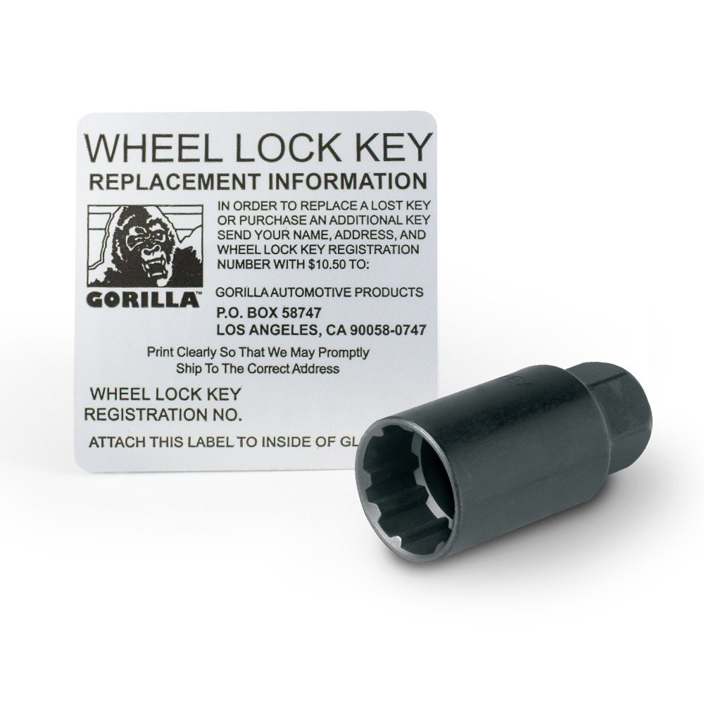 Gorilla Automotive 71683NBC ''The System'' Acorn Black Chrome Wheel Locks (1/2'' Thread Size) - For 5 Lug Wheels
