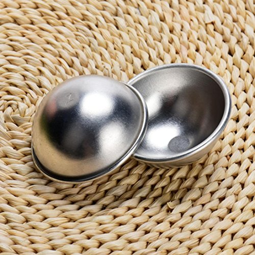 Miklan DIY Metal Bath Spherical Mold Bath Bomb Making Handmade Soaps Crafts Molds