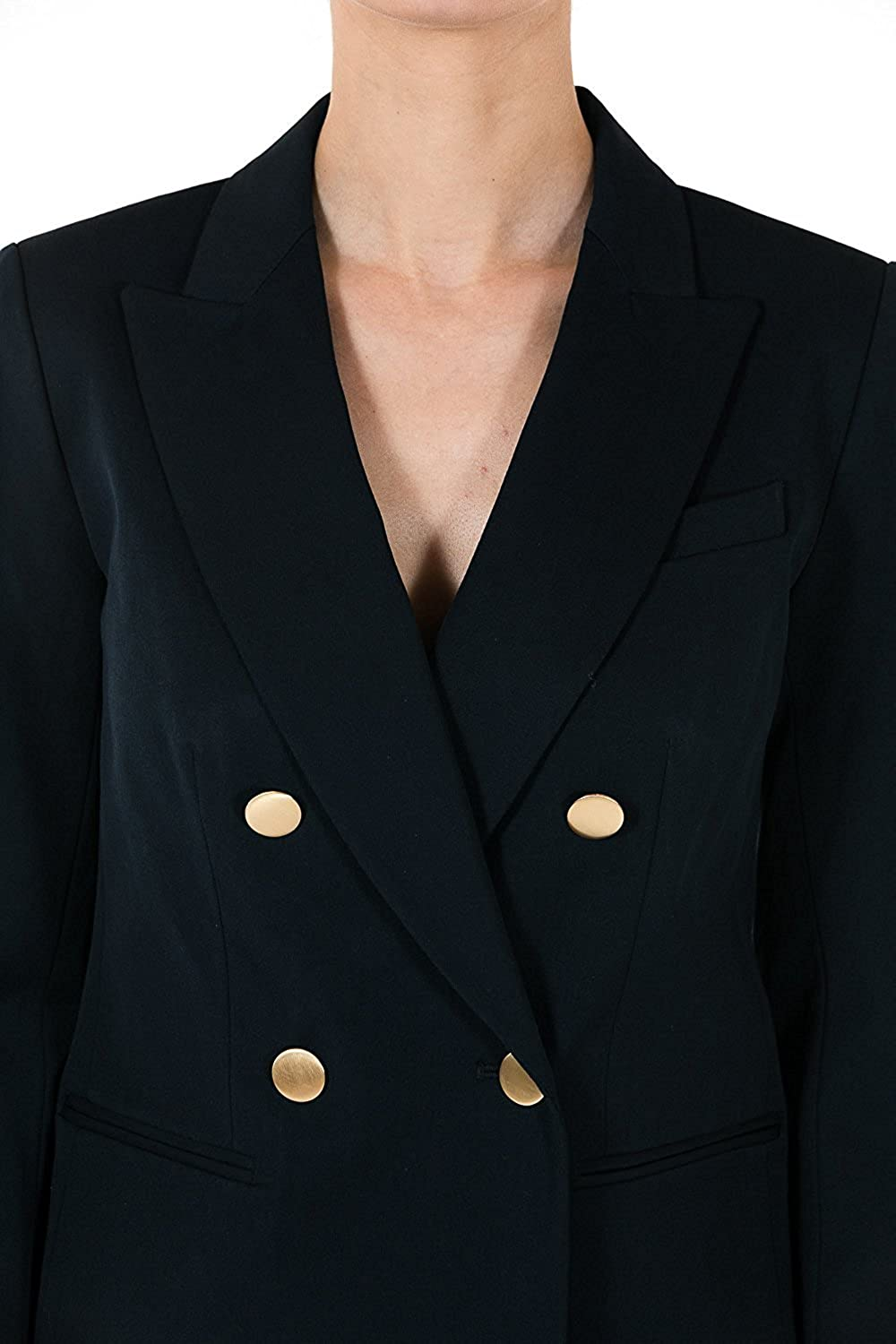 17c55ccf93 Michael Kors Double-Breasted Twill Blazer (Navy) at Amazon Women s Clothing  store