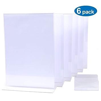 Amazon.com: Soporte para carteles de acrílico de 8,5 x 11 ...