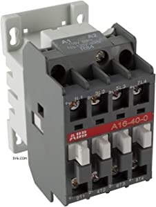 ABB A16-04 Normally Closed 30A 4 Pole Contactor (N/C) 120V Coil, 30Amp, Lighting, Heating, UL