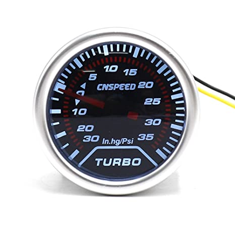 cnspeed Boost Gauge 2 pulgadas 52 mm LED iluminación de humo lente Medidor de Turbo Boost