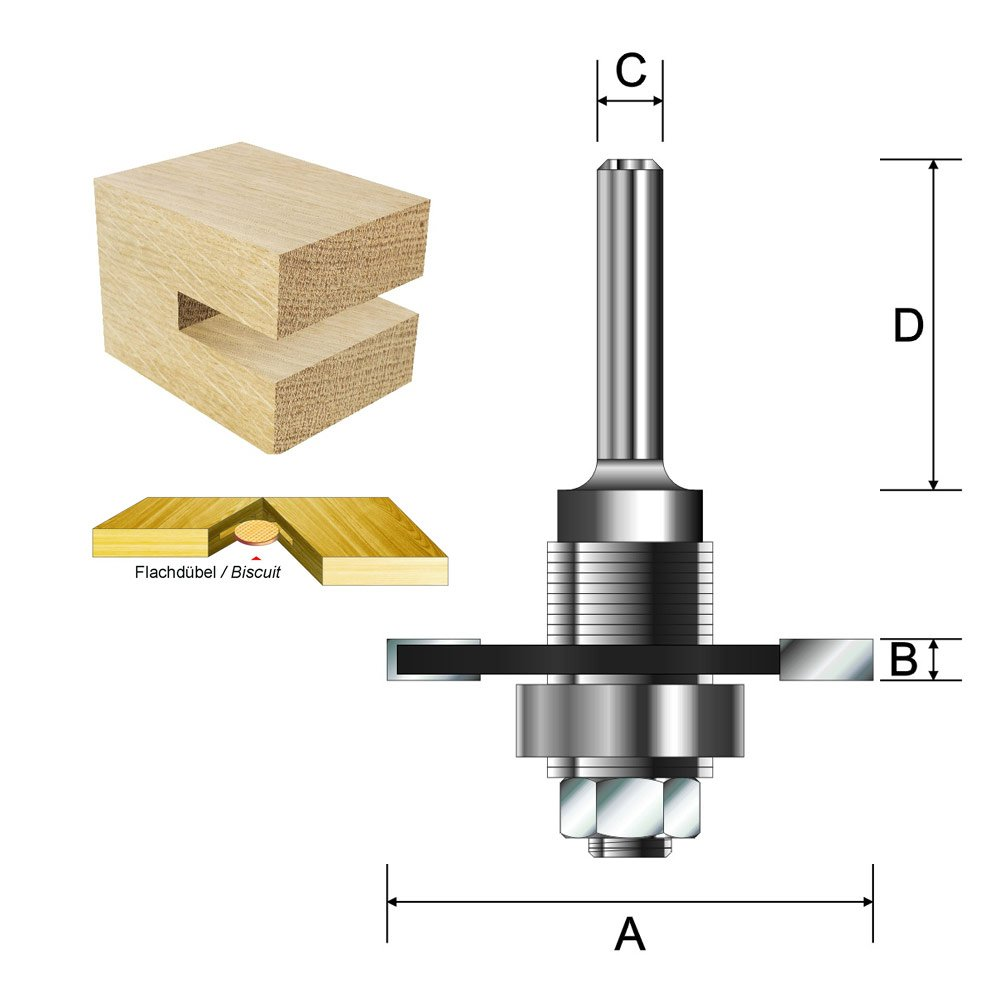 Durchmesser Schaft ENT 16465 Flachd/übelfr/äser HW 47 mm 12 mm D 40 mm B 3,97 mm mit 3 Kugellager C A HM