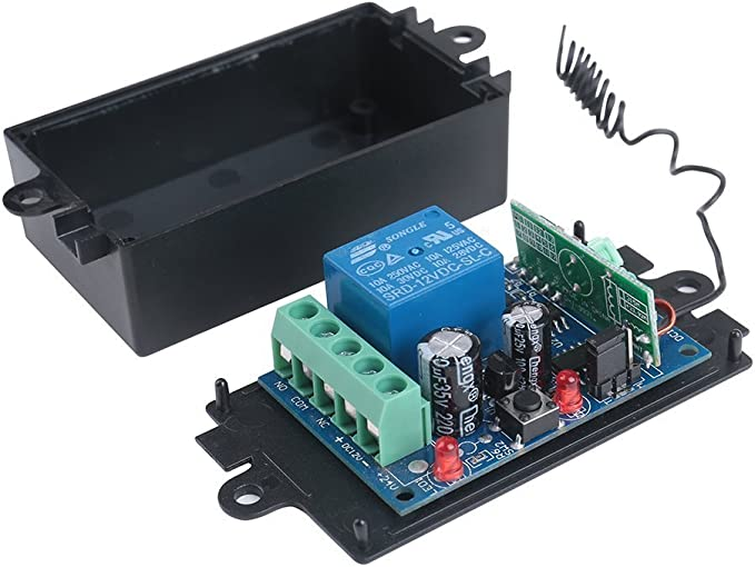 12V 10A Relay 2 Way Wireless Control Switch Transmitter 12V 2CH Relay Module Kit