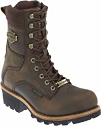Harley-Davidson Mens Tyson 7.5-Inch Brown Logger Style Motorcycle Boots D96100