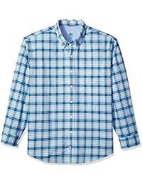 Men's Big and Tall Long Sleeve Oxford Plaid Shirt